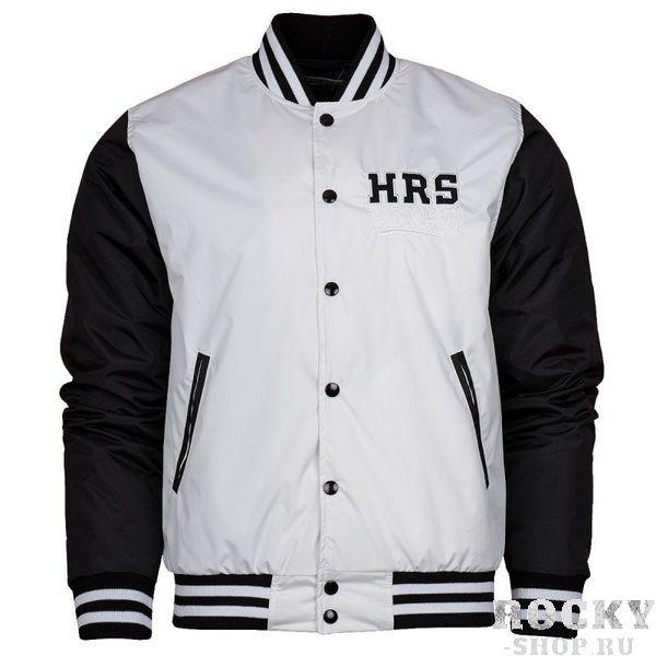Куртка HRS Extreme Hobby, Белая Extreme HobbyКуртки / ветровки<br>Осенне-зимняя бейсбольная куртка HRS Extreme Hobby. Короткий спортивный крой куртки отлично подчеркивает характер владельца. Куртка оснащена двумя боковыми карманами, а также удобным внутренним карманом на липучке. Материал: 100% полиэстер<br>КОЛЛЕКЦИЯ: 58 BASIC<br>ЦВЕТ: БЕЛЫЙ<br>МАТЕРИАЛ: 100% ПОЛИЭСТЕР<br><br>Размер INT: S