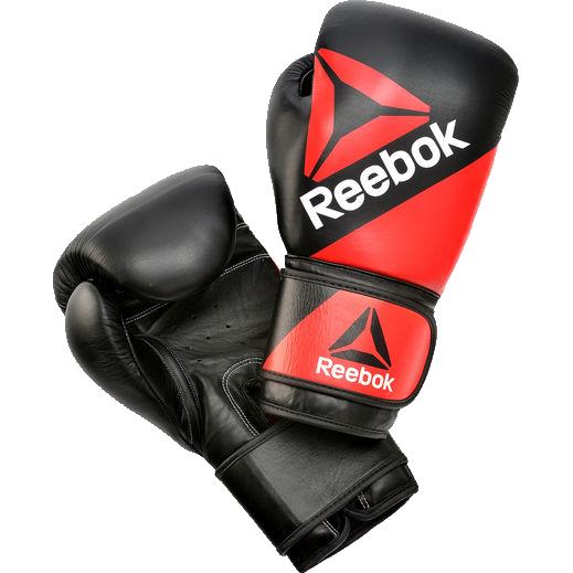 Перчатки Reebok, 16 oz ReebokБоксерские перчатки<br>Боксерские перчатки Reebok. Обеспечивают своему владельцу наивысшую защиту. Данные перчатки для бокса идеально садятся на кулак боксера и на редкость приятны на ощупь внутри. Перчатки сшиты вручную из натуральной кожи. Дизайн, удобство и функциональность - вот основные достоинства этих перчатокs.<br>