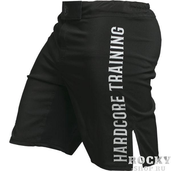 Шорты Hardcore Training Black Hardcore TrainingШорты ММА<br>Шорты Hardcore Training Black. Классические шорты для единоборств. Ничего лишнего. Великолепное соотношение цена/качество. На шортах присутствует эластичная вставка в промежности, а так же боковые разрезы. Эти факторы дают при работе в шортах ощущение полной свободы. Данные шорты отлично подойдут для работы в партере и в стойке, для занятий мма, грепплингом, тайским боксом, тренировок по кроссфиту и бега с препятствиями. Состав: полиэстер. Уход: машинная стирка в холодной воде, не отбеливать.<br><br>Размер INT: XXL