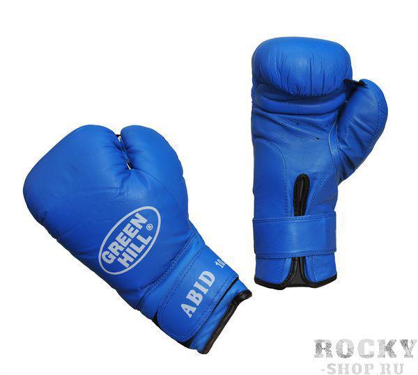 Перчатки боксерские ABID, 12 унций Green HillБоксерские перчатки<br>Подходят для детских и юношеских боксёрских школ<br> За счёт сверхмягкого наполнителя фактически не наносят травм<br> Материал - 100% кожа<br> Смягчающая вставка в районе запястья<br> Удобная застёжка-липучка<br><br>Цвет: Черные