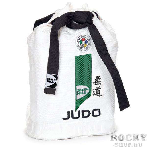 Купить Спортивная сумка-мешок из дзюдо-ткани IJF Green Hill белая (арт. 21703)