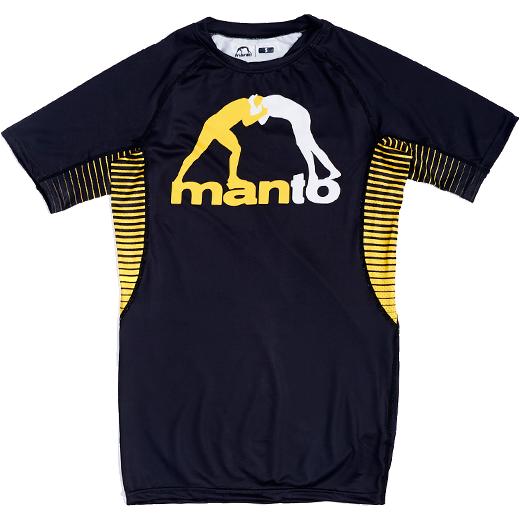 Рашгард Manto Logo Black MantoРашгарды<br>Рашгард Manto Logo Black. Рашгард Манто очень высокого качества(как всегда у Manto). Не создает дискомфорта во время тренировки. Ткань рашгарда достаточно сильно тянется. Рашгарды Manto подходят и для контактные видов спорта, и для кроссфита, для занятий в тренажерном зале, для тренировок и в спортивном клубе, и на улице! Рашгард хорошо сядет и на плотную фигуру, и на достаточно худощавого бойца. Рисунок полностью сублимирован в ткань. А это значит- рисунок не сотрется и не поблекнет после стирок. Короткий рукав рашгарда обеспечит масксимальную свободу рукам во время тренировок. Состав: 82% полиэстер, 18% эластан.<br><br>Размер INT: M