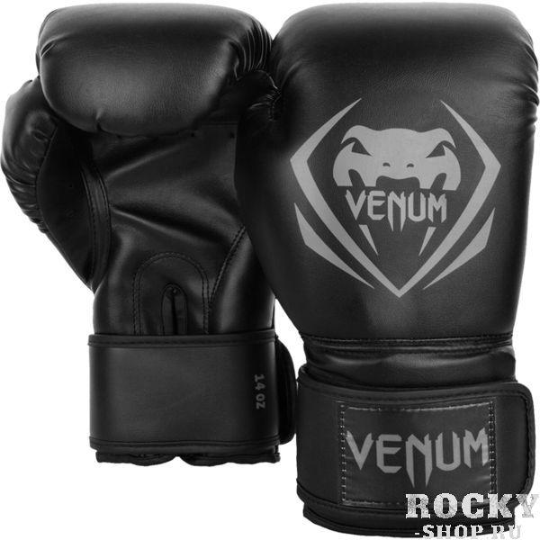 Перчатки боксерские Venum Contender Black/Grey, 8 oz VenumБоксерские перчатки<br>Боксерские перчатки Venum Contender. Великолепное соотношение цена/качество! Отлично защищают руку! очень хорошо сидят на руке. Широкая застежка с резинкой, обеспечивает надежную фиксацию перчаток Venum на запястье. Внутренний наполнитель - пена для лучшей амортизации удара. Внешняя часть перчаток - Skintex Leather. Это современный надёжный искусственный материал. Подходят и для тренировок по боксу, мма, тайскому боксу, работы на мешках, а так же для соревнований определённого уровня.<br>