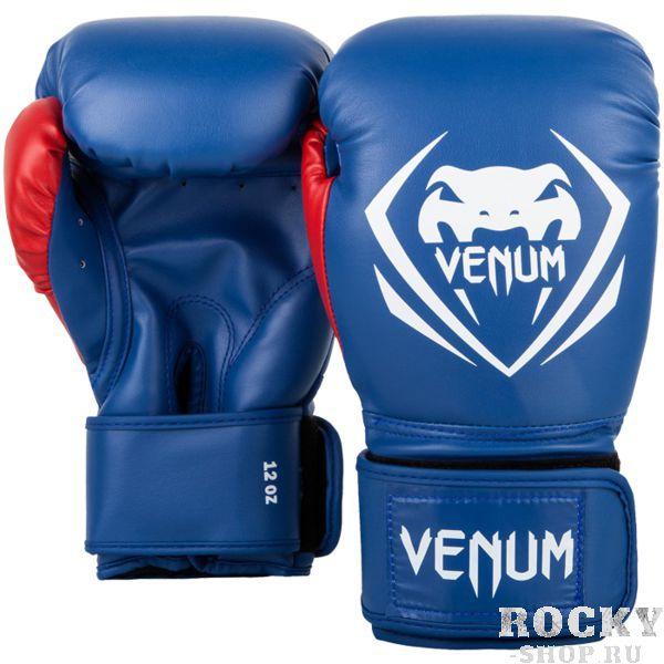 Боксерские перчатки Venum Contender Blue/White-Red, 12 oz VenumБоксерские перчатки<br>Боксерские перчатки Venum Contender. Великолепное соотношение цена/качество! Отлично защищают руку! очень хорошо сидят на руке. Широкая застежка с резинкой, обеспечивает надежную фиксацию перчаток Venum на запястье. Внутренний наполнитель - пена для лучшей амортизации удара. Внешняя часть перчаток - Skintex Leather. Это современный надёжный искусственный материал. Подходят и для тренировок по боксу, мма, тайскому боксу, работы на мешках, а так же для соревнований определённого уровня.<br>