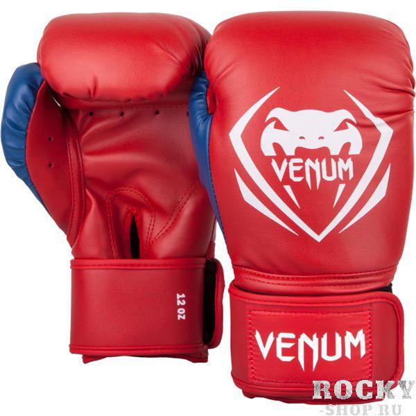 Боксерские перчатки Venum Contender Red/White-Blue, 14 oz VenumБоксерские перчатки<br>Боксерские перчатки Venum Contender. Великолепное соотношение цена/качество! Отлично защищают руку! очень хорошо сидят на руке. Широкая застежка с резинкой, обеспечивает надежную фиксацию перчаток Venum на запястье. Внутренний наполнитель - пена для лучшей амортизации удара. Внешняя часть перчаток - Skintex Leather. Это современный надёжный искусственный материал. Подходят и для тренировок по боксу, мма, тайскому боксу, работы на мешках, а так же для соревнований определённого уровня.<br>