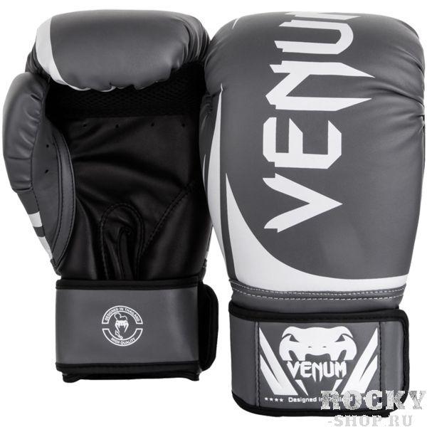 Купить Боксерские перчатки Venum Challenger 2.0 Grey/White-Black 14 oz (арт. 21953)