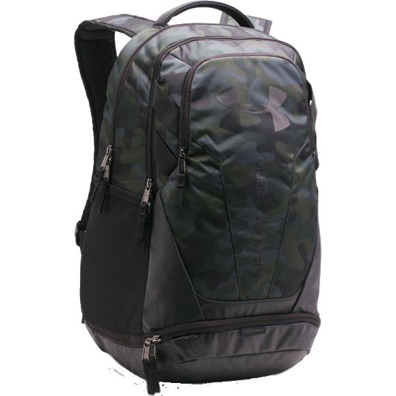 Рюкзак Under Armour Hustle Under ArmourСпортивные сумки и рюкзаки<br>Рюкзак Under Armour Hustle. Внешнее покрытие рюкзака влагоотталкивающее, но при этом хорошо дышит. Большой основной отсек, закрывающийся на молнию. Помимо дополнительных карманов имеется и отделение для ноутбука. Регулируемые плечевые лямки. Задняя часть снабжена специальными эргономичными панелями. Объём: 30 литров. Состав: 100% полиэстер.<br>