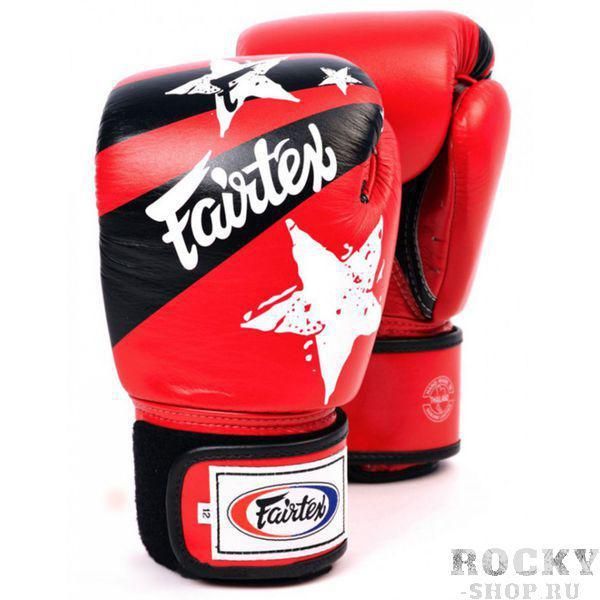 Боксерские перчатки Fairtex Nation Print, красные, 12 oz Fairtex фото