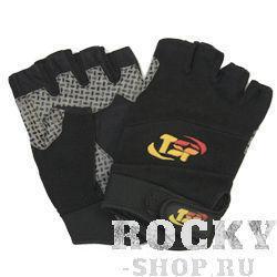 Перчатки для фитнеса, мужские, Чёрно-серые TSP