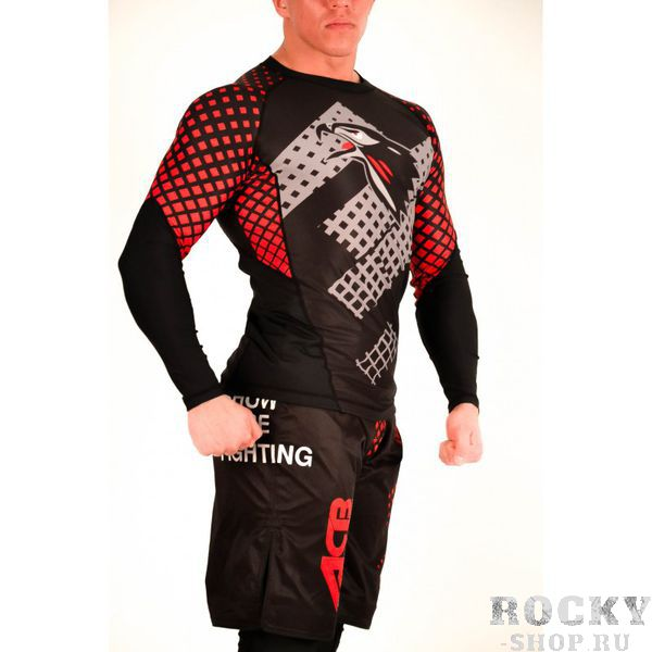 Рашгард Berkut ACB ACBРашгарды<br>Рашгард, специально разработанный для тренировок обеспечивает не только комфорт, но и поддержку мышц за счет своей эластичности. Он улучшает кровоток и ускоряет восстановление мышц, а также выводит лишнюю влагу. <br>Состав: 90% полиэстер, 10% спандекс<br>Рашгард черный с орлом, посередине серое лого, рукава с красными точками, сзади красные точки<br><br>Размер INT: M