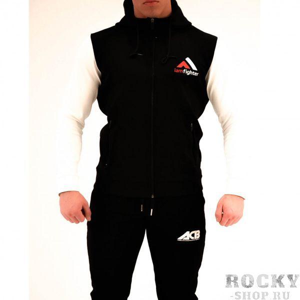 Худи ACB ACBТолстовки / Олимпийки<br>Худи базовое черное с белыми рукавами<br><br>Размер INT: XL