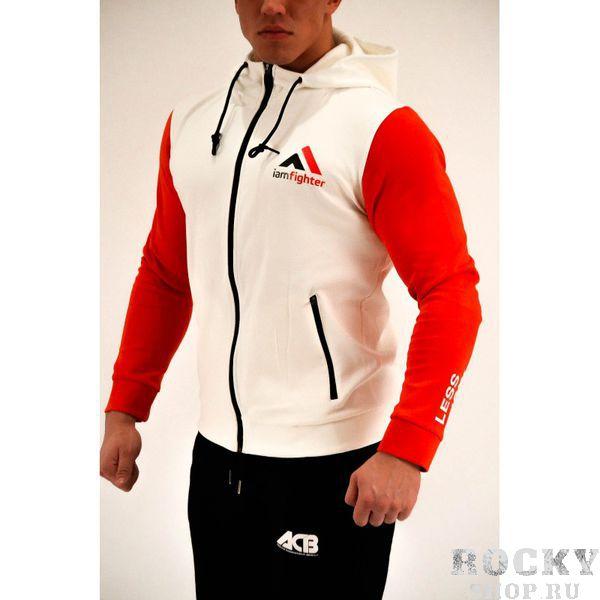 Худи ACB ACBТолстовки / Олимпийки<br>Худи базовое белое с красными рукавами<br><br>Размер INT: S