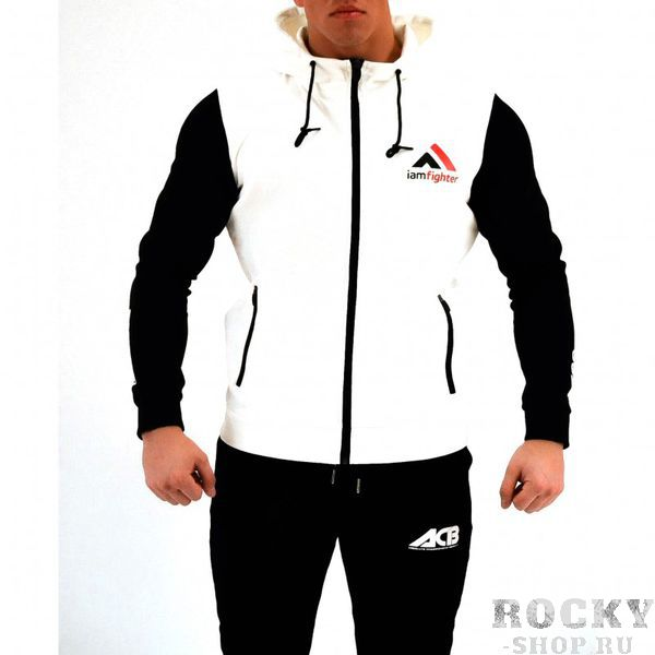 Худи ACB ACBТолстовки / Олимпийки<br>Худи базовое белое с черными рукавами<br><br>Размер INT: S