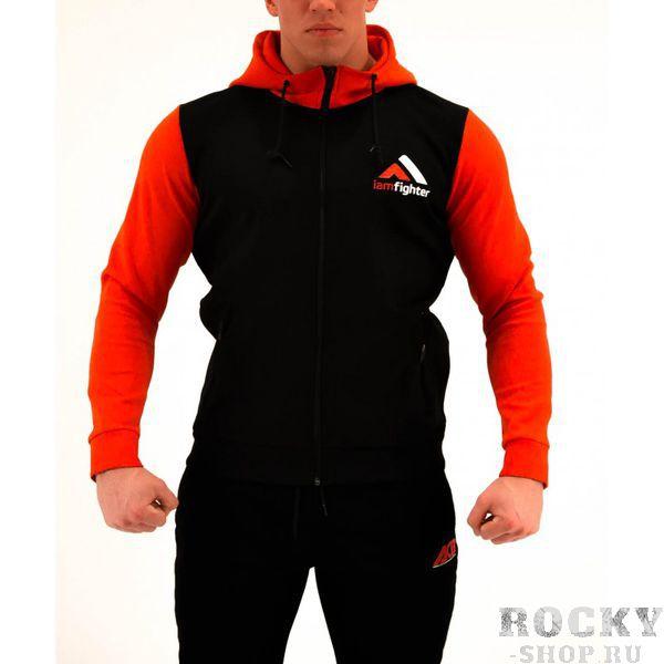 Худи ACB ACBТолстовки / Олимпийки<br>Худи базовое черное с красными рукавами<br><br>Размер INT: XXL