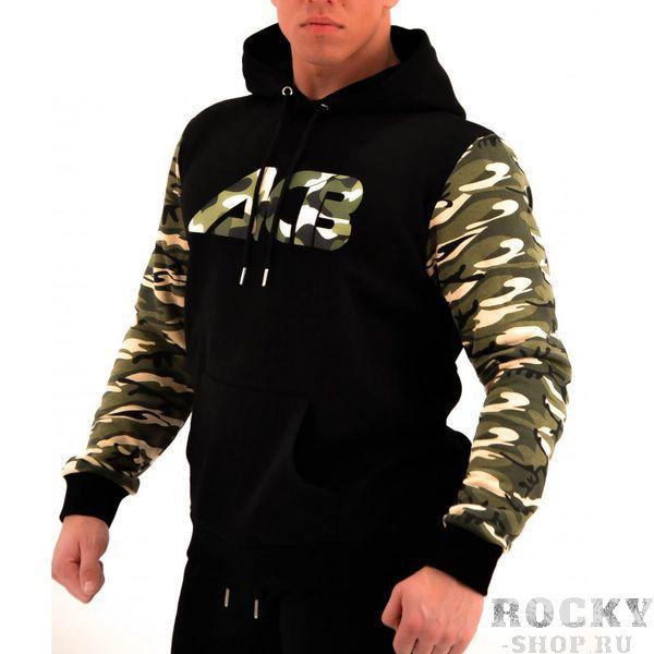 Худи ACB ACBТолстовки / Олимпийки<br>Худи черное с камуфляжным капюшоном и рукавами<br><br>Размер INT: S