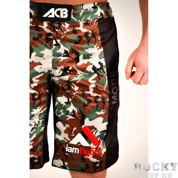 Шорты MMA ACB ACBШорты ММА<br>Шорты MMA с камуфляжными вставками<br><br>Размер INT: L