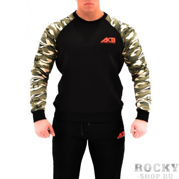 Худи ACB ACBТолстовки / Олимпийки<br>Худи черное с камуфляжными рукавами<br><br>Размер INT: XXL