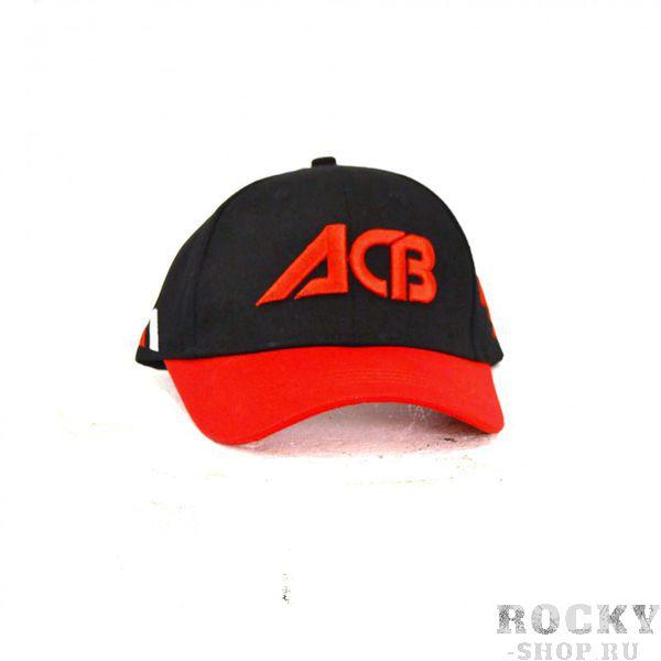 Бейсболка ACB ACBБейсболки / Кепки<br>Дышащая бейсболка из высококачественного материала и регулируемый размер сделают этот атрибут Вашим незаменимым аксессуаром. <br>Бейсболка черная ACB, сбоку слоган, козырек красный<br>