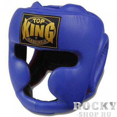 Тренировочный шлем Full Coverage, m Top KingШлемы ММА<br>Шлем Top King Full Coverage — классический тренировочный шлем для боксеров от компании Top King. Полностью закрывает лицо и голову, что обеспечивает практически 100% защиту щек, подбородка, носа, ушей. Крепится шлем с помощью липучки сзади и шнуровки наверху. Изготовлен из натуральной воловьей кожи вручную. Сделано в Таиланде.<br><br>Цвет: синий