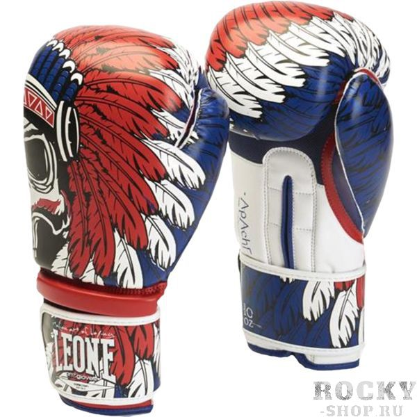 Боксерские перчатки Leone Apache, 10 oz LeoneБоксерские перчатки<br>Боксерские перчатки Leone Apache. Перчатки отлично садятся по руке и не доставляют каких-либо неудобств при использовании. Подойдет как любителям, так и для настоящих профессионалов. Внешняя часть перчаток - искусственная кожа.<br>