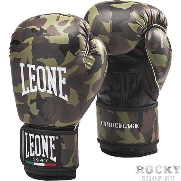 Боксерские перчатки Leone Camouflage, 10 oz LeoneБоксерские перчатки<br>Боксерские перчатки Leone Camouflage. Перчатки отлично садятся по руке и не доставляют каких-либо неудобств при использовании. Подойдет как любителям, так и для настоящих профессионалов. Внешняя часть перчаток - искусственная кожа.<br>