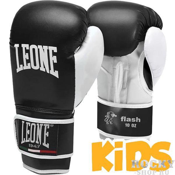Детские боксерские перчатки Leone Flash, 4 oz LeoneБоксерские перчатки<br>Детские боксерские перчатки Leone Flash. Выполнены перчатки для бокса Leone Flash из искусственной кожи и вспененного материала.<br>