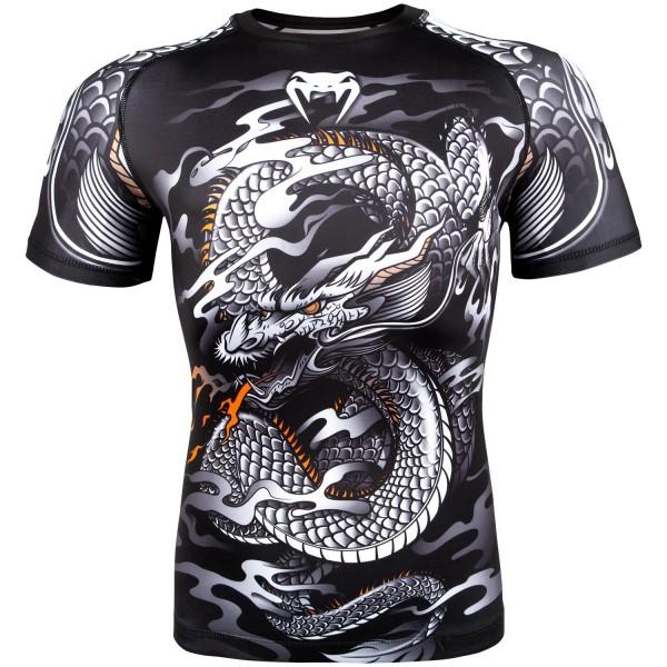 Купить Рашгард Venum Dragons Flight Black/White S/S (арт. 22318)
