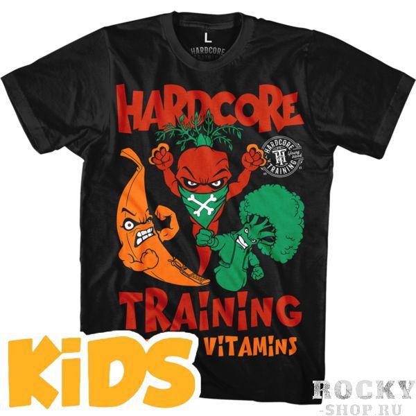 Детская футболка Hardcore Training Angry Vitamins Hardcore TrainingФутболки<br>Детская футболка Hardcore Training Angry Vitamins. Уход: машинная стирка в холодной воде, деликатный отжим, не отбеливать. Состав: 92% хлопок, 8% лайкра. Футболка изготовлена в Европе (EU).<br><br>Размер INT: 9 лет