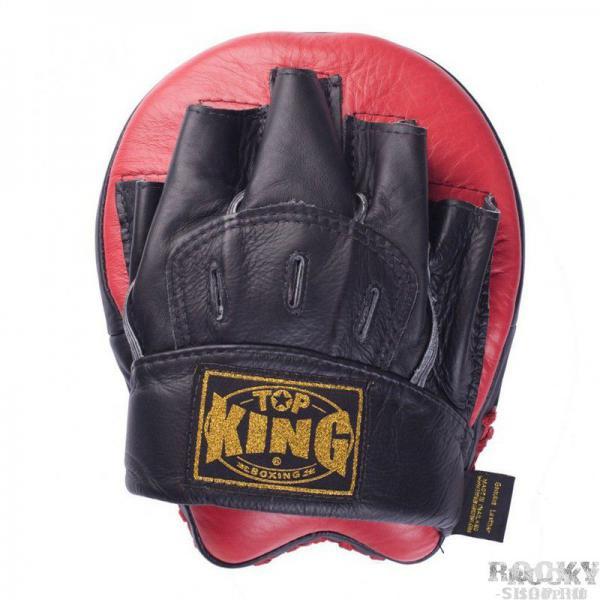 """Боксерские лапы Ultimate, F Top KingЛапы и макивары<br>Красно-черные боксерские лапы Top King """"Ultimate"""", сделанные из натуральной кожи, предназначены для отработки ударов руками. Они легкие, поэтому могут использоваться даже для длительных тренировок. Абсорбирующая пена внутри лапы эффективно «гасит» удар и защищает руки от повреждений. Сделано в Таиланде.<br>"""