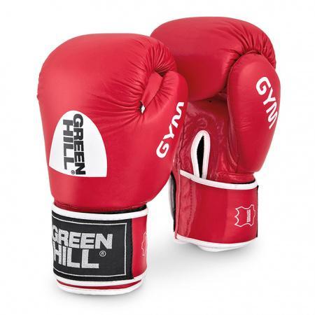 Перчатки боксерские GYM, 20 унций Green HillБоксерские перчатки<br>Натуральная кожа<br>  Материал   набивки наивысшей плотности<br>  Эргономика   перчатки на высоком уровне<br>  Удобная   застёжка-липучка<br>  Внутренний   слой из искусственной ткани<br><br>Цвет: Черный