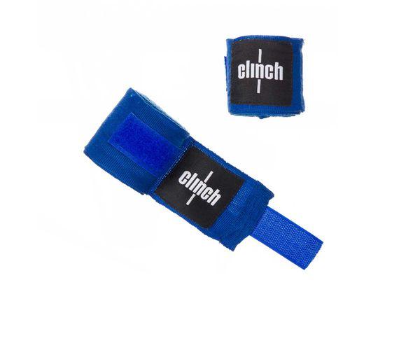Бинты эластичные Clinch Boxing Crepe Bandage Punch синие Clinch GearБоксерские бинты<br>Эластичные боксерские бинты Clinch! Бинты - часть защиты всех элементов кисти и запястья. Помогает снизить риск травмы спортсмена. Петля для большого пальцаШирина 5 смХлопок с добавлением эластана (бинты слегка тянутся)<br><br>Размер: 3.5 м