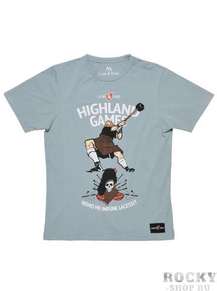 Футболка CrewandKing Highland Games CrewandKingФутболки<br>Стильная футболка с агрессивным принтом. 90% хлопок/ 10% лайкра.<br><br>Размер INT: XL