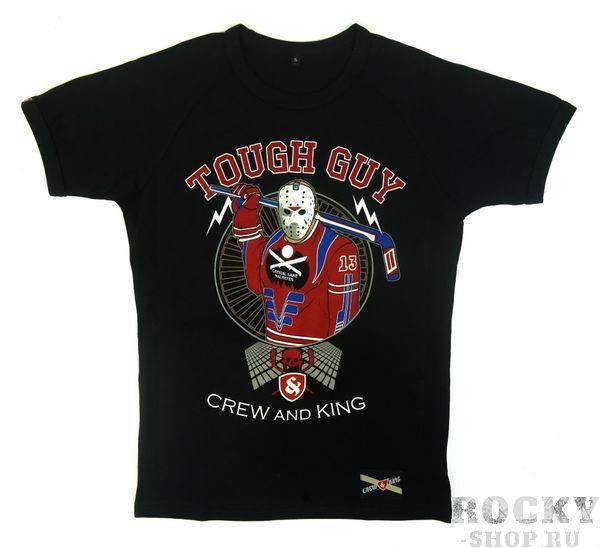 Футболка CrewandKing Tough Guy CrewandKingФутболки<br>Стильная футболка с агрессивным принтом. 100% хлопок.<br><br>Размер INT: S