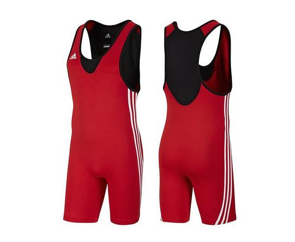 Купить Трико борцовское Base Wrestler красное Adidas (арт. 22638)