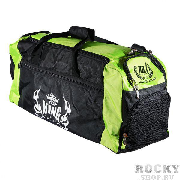 Сумка Top King, черно-зеленая, 35х90х35 см, 35х90х35 см Top KingСпортивные сумки и рюкзаки<br>Стильная, вместительная черно-зеленая спортивная сумка от Top King. В нее прекрасно помещается вся боксерская экипировка. Сумка Top King имеет просторное основное отделение, а также несколько небольших отделений для разной мелочевки. Сумка выполнена из воздухонепроницаемого материала. Имеется регулируемый наплечный ремень. Размер 35x90x35 см.<br>