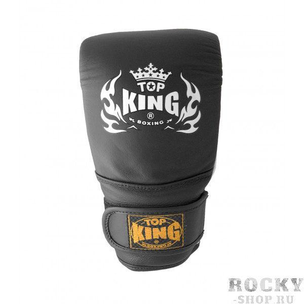 Снарядные перчатки AIR , L Top KingCнарядные перчатки<br>Cнарядные перчатки Top King, сделанные из натуральной воловьей кожи, наполнены абсорбирующей пеной, что делает их первоклассным вариантом для отработки ударов по лапам, грушам, подушкам, мешкам. Манжеты на липучках прочно фиксируют перчатки на руках, а дышащая подкладка позволяет коже дышать, благодаря этому в снарядных перчатках можно проводить много времени. Снарядные перчатки Top King производятся в Таиланде.<br><br>Цвет: черный