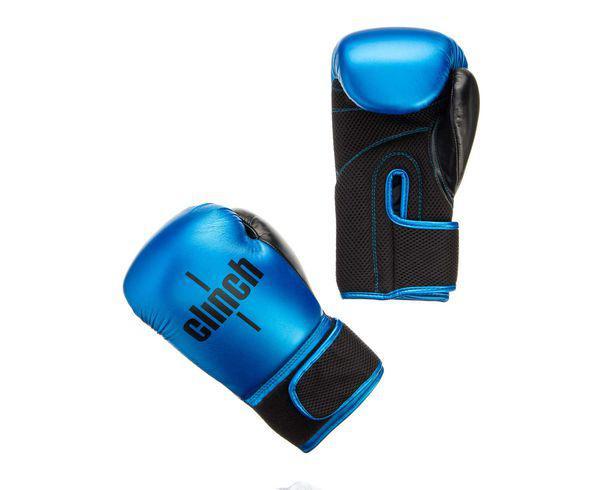 Купить Перчатки боксерские Clinch Aero сине-черные Gear 14 унций (арт. 22695)