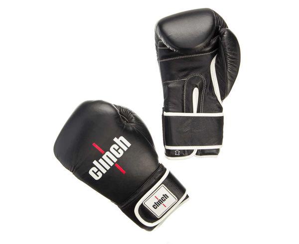 Купить Перчатки боксерские Clinch Pro черные Gear 16 унций (арт. 22700)
