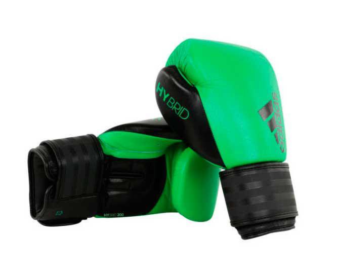 Перчатки боксерские Hybrid 200 зелено-черные Adidas 14 унций (арт. 22702)  - купить со скидкой
