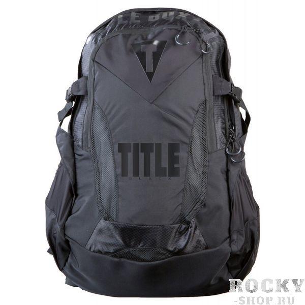 Рюкзак Title Black TITLEСпортивные сумки и рюкзаки<br>Размер (см): 56 x 40 x 23. Линия TITLE BLACK это превосходное качество, прецизионные материалы и особое вниманием к деталям. Рюкзак изготовлен из высококачественных марок водонепроницаемого нейлона, прочного нейлона Denier и неопренного баллистического нейлона. Два больших отдела для хранения в основном отсеке с молнией с множеством дополнительных внутренних карманов и отсеков для сотового телефона, ноутбука, iPod, музыкального плеера, ценностей и тренировочного снаряжения. Хоть в офис, хоть в зал). С внешней стороны карманы в виде сетки и два эластичных боковых кармана для бутылок с водой. Мягкая, усиленная задняя опора с сетчатой основой обеспечивает максимальный комфорт. Настраиваемые накладные плечевые ремни и дополнительный поясной ремень.<br>