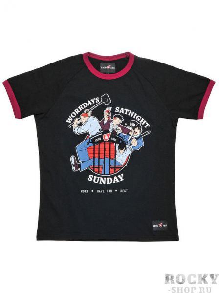 Футболка CrewandKing Work-Have Fun-Rest CrewandKingФутболки<br>Стильная футболка с агрессивным принтом. 100% хлопок.<br><br>Размер INT: XXL