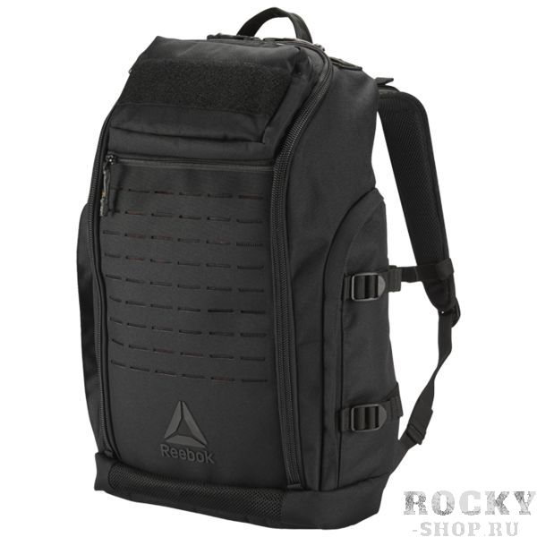 Рюкзак Reebok CrossFit ReebokСпортивные сумки и рюкзаки<br>Рюкзак Reebok CrossFit. Этот рюкзак из прочного материала CORDURA готов к любым приключениям. В него можно сложить все - от экипировки до ноутбука, а липучка на передней панели отлично подходит, чтобы прикрепить эмблему твоего CrossFit клуба. Материал CORDURA для прочности и легкости. Размеры: 33 х 56 х 19 см, объем: 41 л. Специальное отделение с подкладкой отлично подходит для хранения гаджетов. Отделения для обуви, мокрой одежды и бутылки воды. Липучка спереди для крепления эмблемы твоего CrossFit клуба.<br>