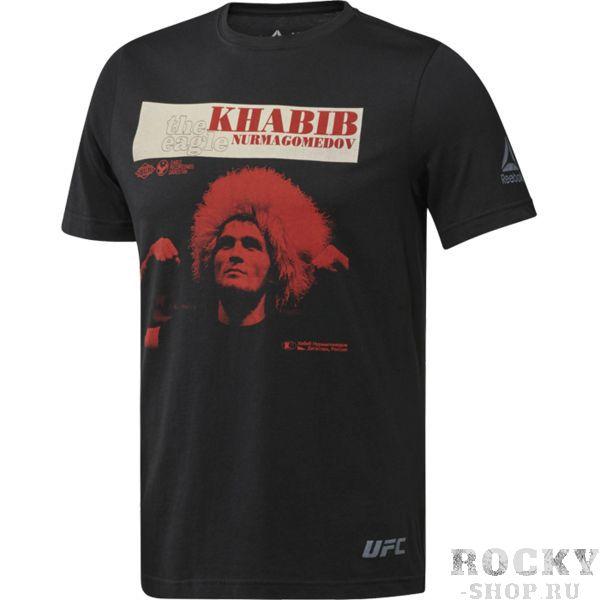 Футболка Reebok UFC Khabib Retro ReebokФутболки<br>Футболка Reebok UFC Khabib Retro. Официальная футболка легендарного бойца Джона Джонса от Reebok. Уход: машинная стирка в холодной воде, деликатный отжим, не отбеливать.<br><br>Размер INT: S