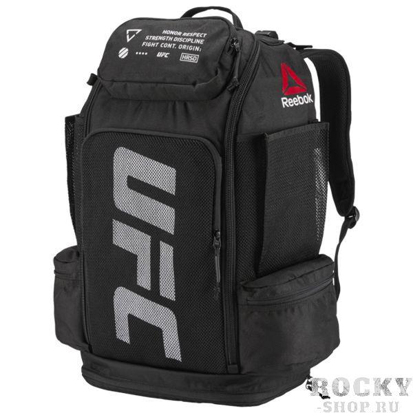 Рюкзак Reebok UFC ReebokСпортивные сумки и рюкзаки<br>Рюкзак Reebok Reebok UFC. Этот рюкзак из прочного материала готов к любым приключениям. В него можно сложить все - от экипировки до ноутбука. Специальное отделение с подкладкой отлично подходит для хранения гаджетов. Объем: 44 л. Габариты: 35 см X 57 см X 21 см.<br>