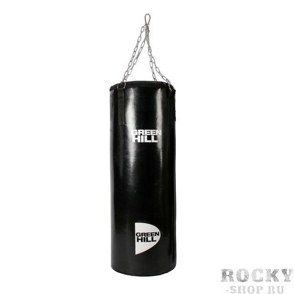 Профессиональный боксерский мешок Green Hill, 55 кг, 160*35 см Green HillСнаряды для бокса<br>Боксерский мешок GREEN HILL. Выполнен из виниловой(тентовой) ткани. Подвес на цепи, прикрепленной к пришитым стропам мешка. Особенная капсульная технология набивки мешка придает ему правильную форму и балансировку веса и плотности. - Материал мешка - винил- Капсульная технология набивки<br>Такими мешками оборудована база соборной РФ по боксу в Чехове. <br><br>Капсульная технология набивки позволяет сохрнаить мешок в идеальном состоянии на протяжении ДЕСЯТКОВ лет при самом интенсивном использовании.<br>