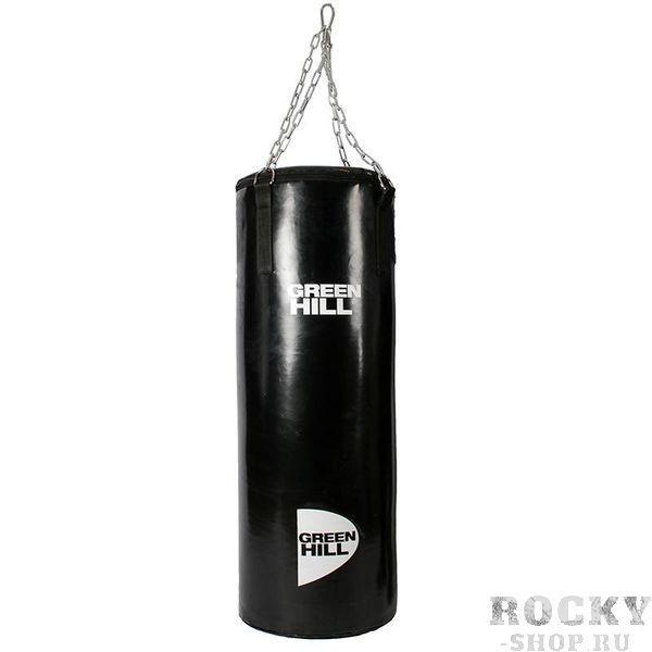 Мешок боксерский Green Hill, 150*35 см, 42 кг, На цепи Green HillСнаряды для бокса<br>Отличный вариант для домашних тренировок. &amp;nbsp;Мешок боксерский с подвесной системой. Верх сделан из высококачественной искусственной кожи. Служит для отработки ударов руками и ногами. Прекрасно подходит для постановки жесткого удара. Вес 42 кг. Длина 150 см. Диаметр 35 см. Подвеска - цепи<br>