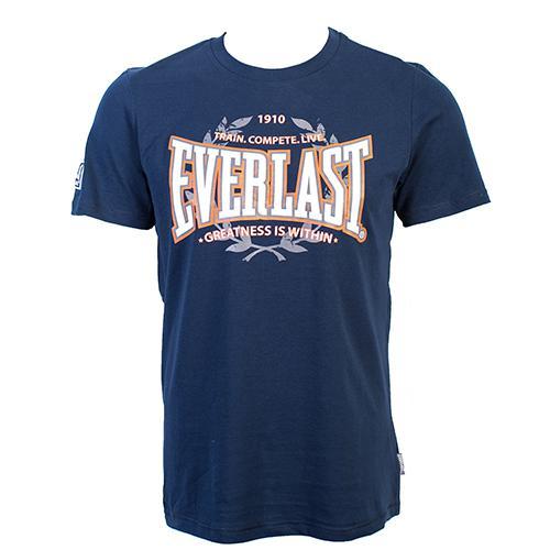 Футболка Everlast Heritage Blue EverlastФутболки<br>Футболка Everlast Heritage выполнена из мягкого трикотажа. Круглый вырез горловины, короткие рукава, контрастный логотип бренда. Идеальна для тренировочного процесса и повседневной носки. Состав: Хлопок - 90%, Вискоза - 10%<br><br>Размер INT: M