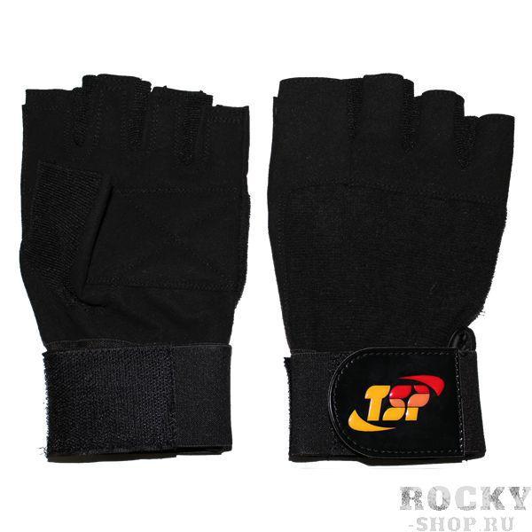 Перчатки для фитнеса, мужские, Чёрные TSP