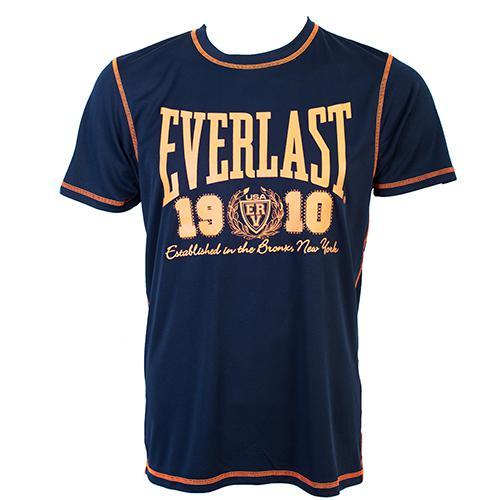 Футболка Everlast Sports Brights 1910 Navy EverlastФутболки<br>Футболка Everlast Sports Brights 1910 выполнена из гладкого трикотажа с контрастной отстрочкой. Круглый вырез горловины, короткие рукава. Идеальна для тренировок и повседневного ношения. Состав: Полиэстер - 100%.<br><br>Размер INT: XXL