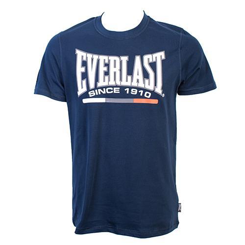 Футболка Everlast Sports Navy EverlastФутболки<br>Футболка Everlast Sports выполнена из хлопка. Модель прямого кроя. Детали: круглый вырез горловины, короткие рукава, контрастный логотип бренда. Состав: 100% Хлопок.<br><br>Размер INT: S